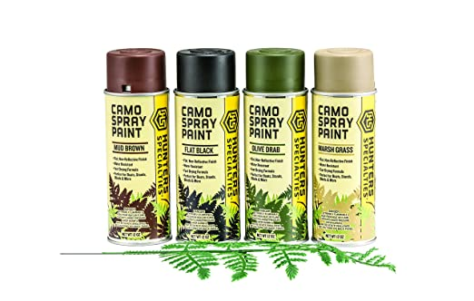 amazoncom hunters specialties camo spray paint kit hunting camouflage accessories sports outdoors - Camo Paint Colors