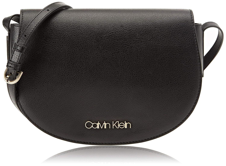 Calvin Klein Jeans Frame Med Saddle Bag, Sacs bandoulière Femme, 7x20x29 Centimeters (B x H x T) Noir (Black) K60K604451