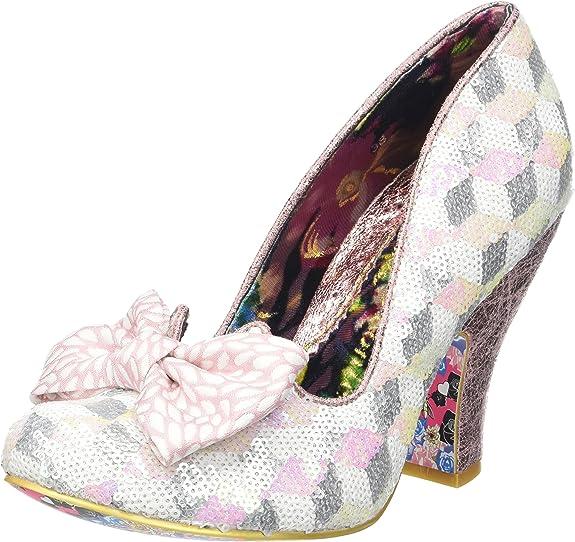 Irregular Choice Nick of Time, Zapatos de tacón con Punta Cerrada para Mujer