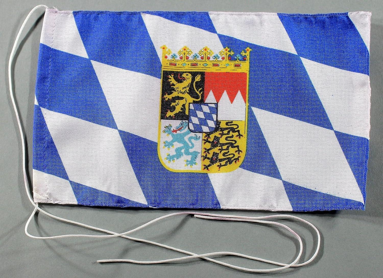 wahlweise mit oder ohne 42 cm Massivholz Tischst/änder Buddel-Bini Bayern mit Wappen und Raute Landesflagge Tischflagge 15x25 cm in Profiqualit/ät
