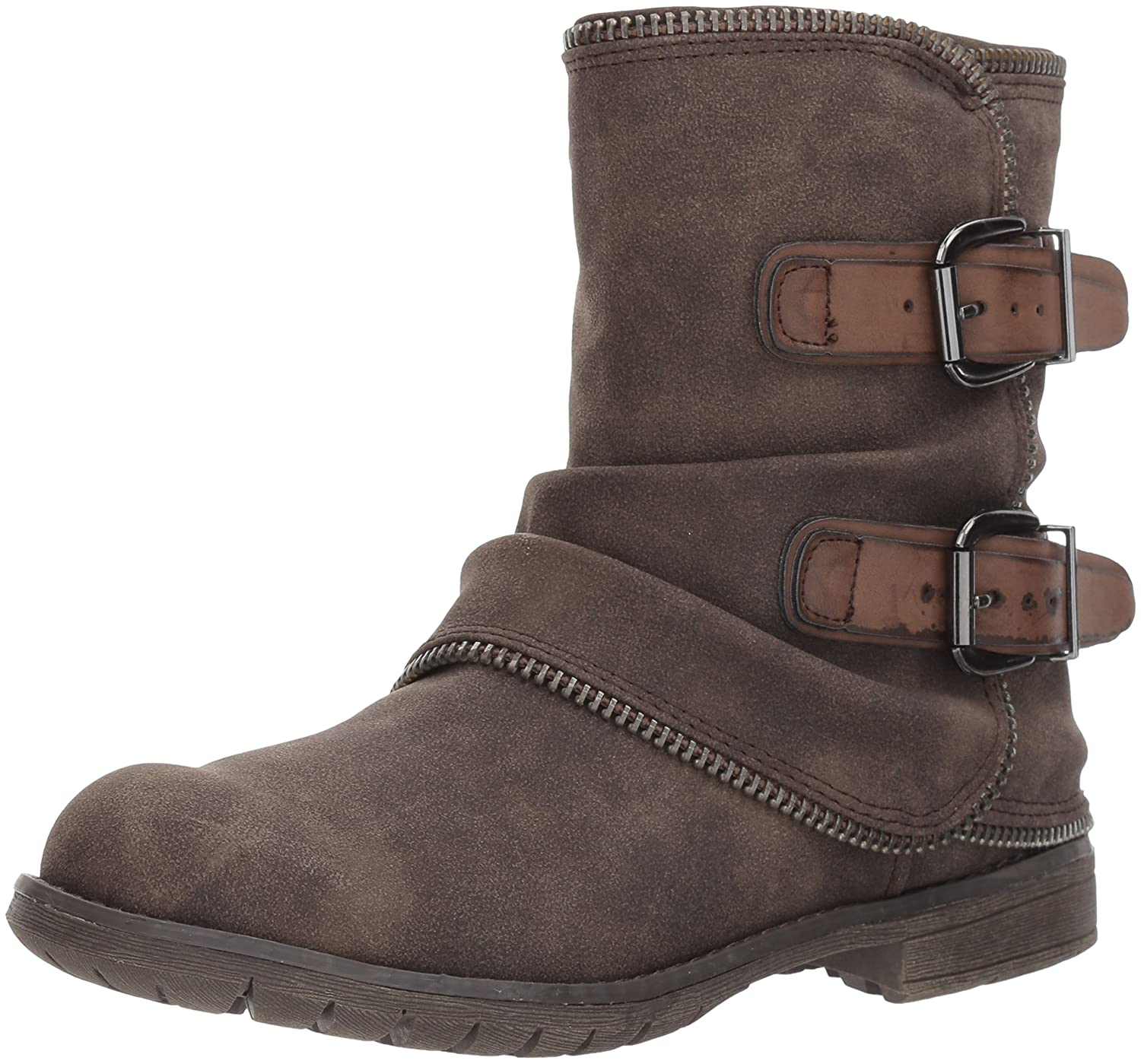 Not Rated Women's Who's Talkin Motorcycle Boot B06Y5Z5FKD 7.5 B(M) US|Taupe