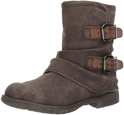 Not Rated Women's Who's Talkin Motorcycle Boot, Taupe, ...