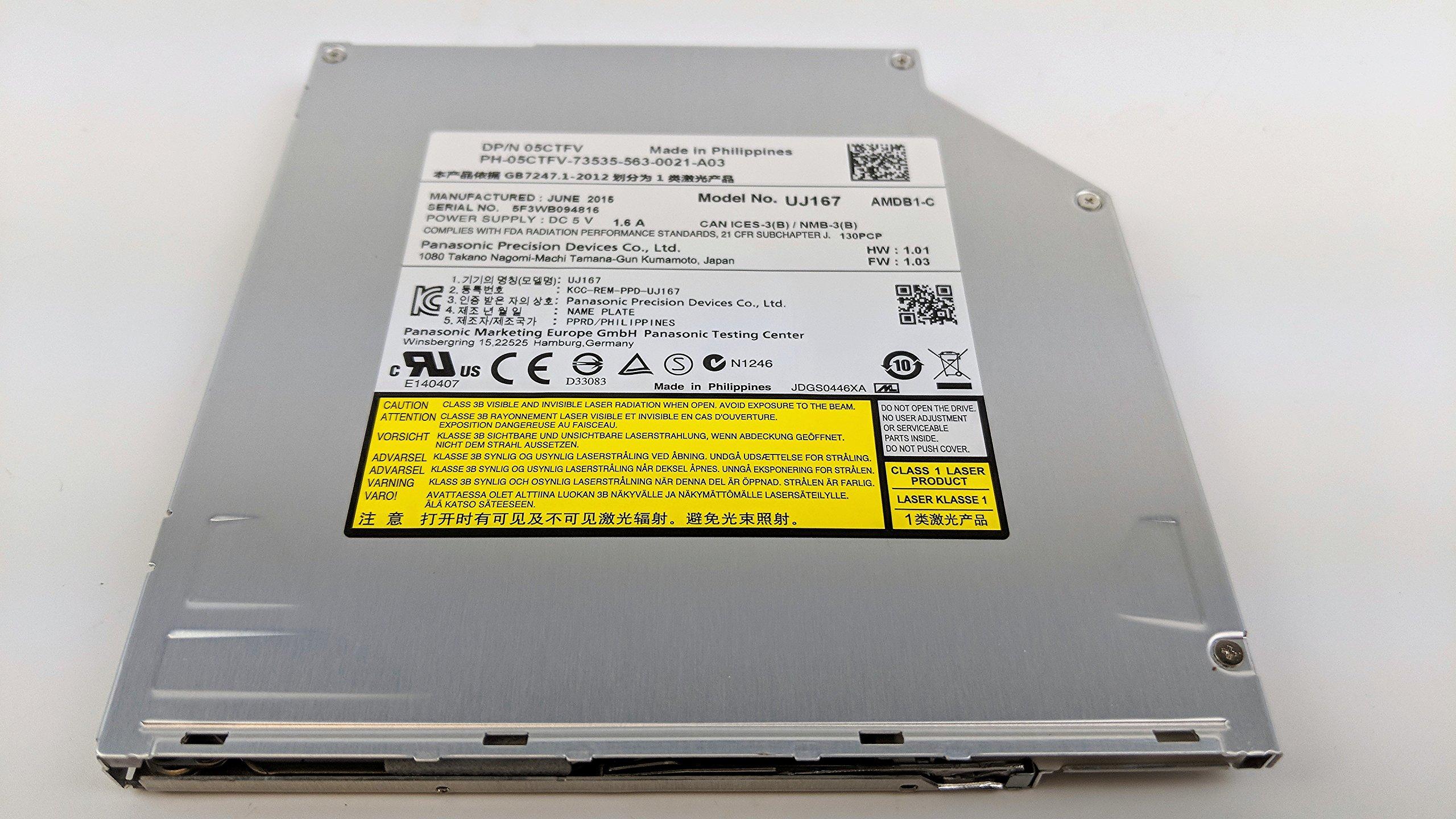 Dell Laptop BD-ROM Blu Ray Drive UJ167 5CTFV Slot Load SATA 05CTFV CN-05CTFV