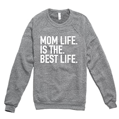 281eb4ac5df Thread Tank Mom Life Is The Best Life Women s Premium Soft Knit Relaxed  Fleece Pullover Sweater