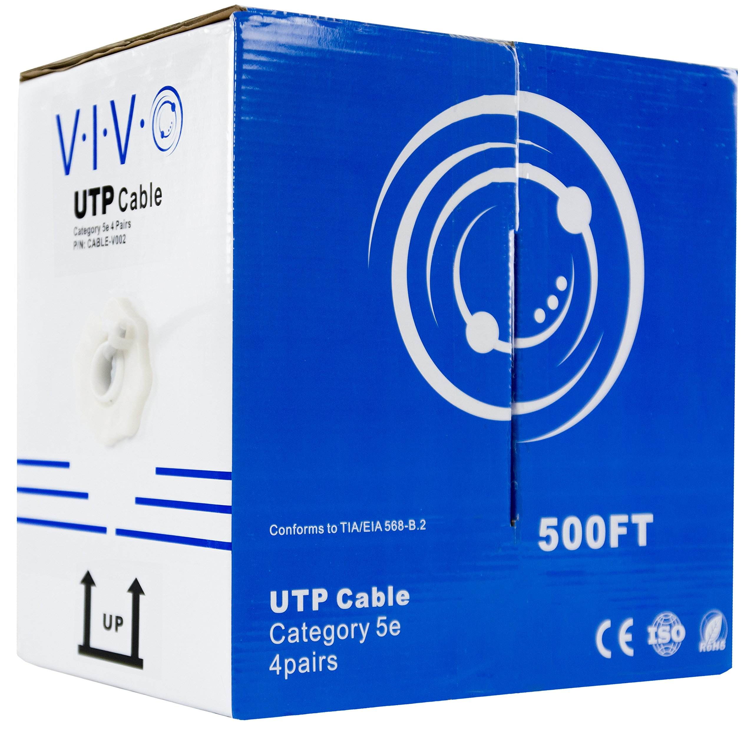 VIVO 500 ft Bulk Cat5e Ethernet Cable CABLE-V002 Wire UTP Pull Box Grey by VIVO