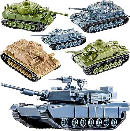 Amazon Com Proloso 6 Piezas De Plástico Ejército Tanques De Juguete Juego Alemán Ee Uu Soviético Tanque Modelos Mesa Miniatura Modelo Kit Toys Games