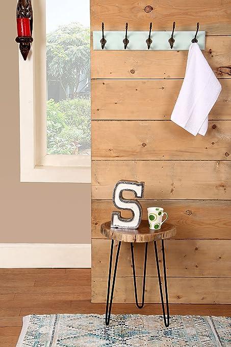 Amazon.com: Ganchos de madera MDF para montaje en pared con ...