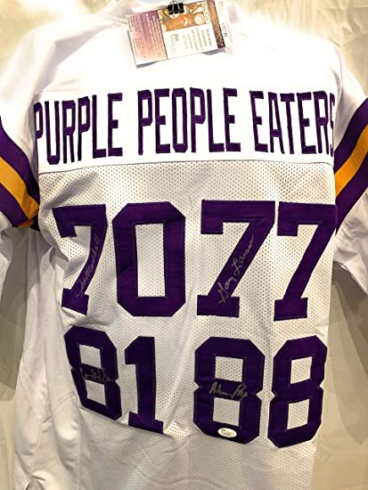 Image Unavailable. Image not available for. Color  Alan Page Carl Eller Jim  Marshall Gary Larsen Minnesota Vikings Signed Autograph White Custom Jersey  ... 1cdf4cf66