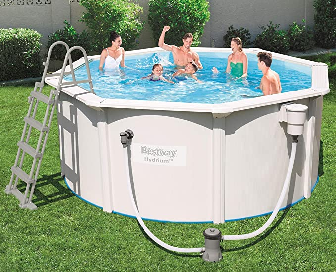 Bestway 56563 hydrium Pool Set Ø300 X 120 Cm, Acero Pared Piscina ...