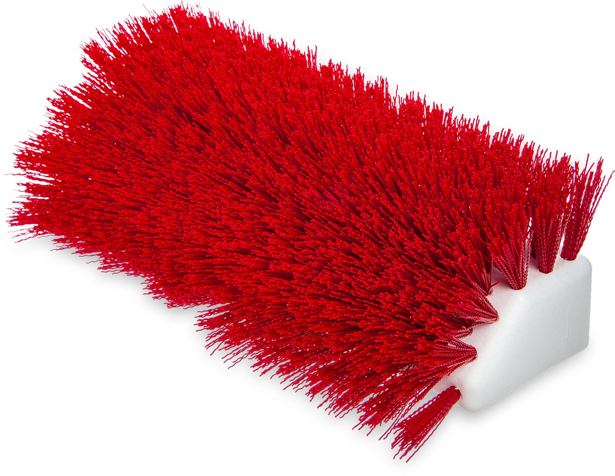 Carlisle 4042305 Hi-Lo Floor Scrub Brush, Red (Pack of 12)