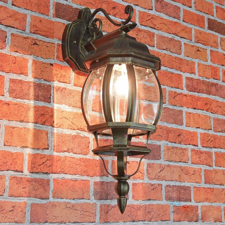 Rustikale Wandleuchte für Außen in weiß E27 230V bis 60 Watt Außenleuchte Außenlampe Wandlampe Beleuchtung Hof Garten Terrasse Licht LierOn - GmbH 3382white