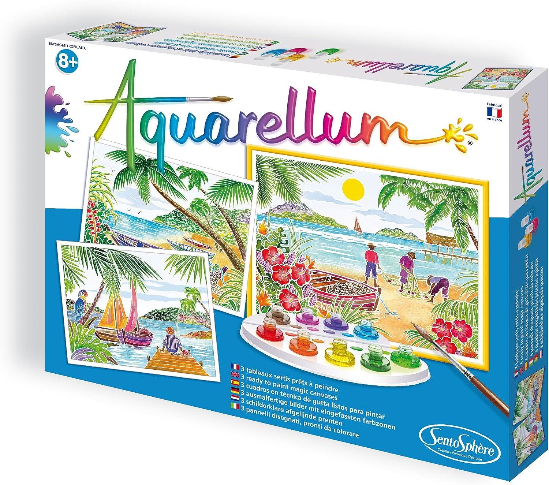 32,5 x 25 cm Aquarellum GM Isole Tropicali Sentosphere 06360 contenuti 3 Disegno Bottiglie dinchiostro 9
