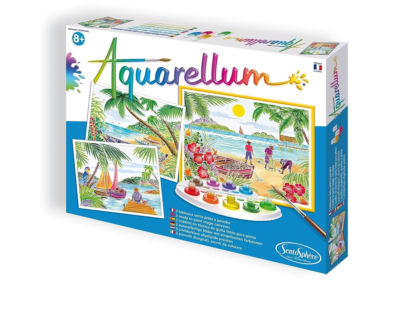Sentosphère 3906360 Aquarellum GM Tropical Islands Painting Set