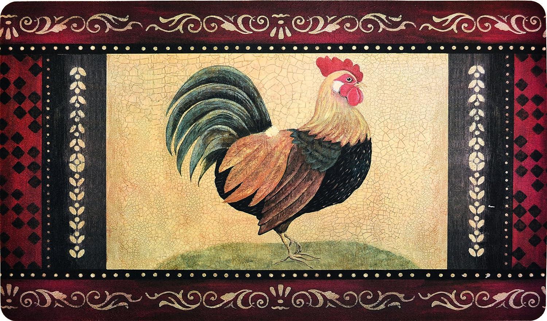プレミアム快適キッチンマット( 2 - Pack )  Vintage Rooster B075MRD5FV
