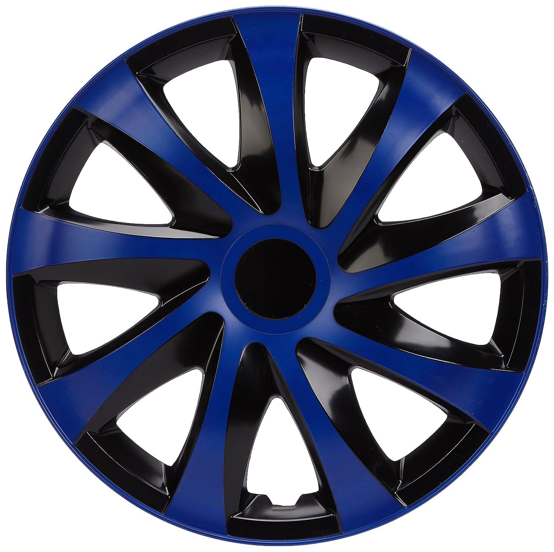 4er Set Schwarz//Blau 15 Zoll NRM KO251 Radzierblende Draco CS