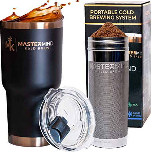 The Kold Brewer The Only Portable All-in-1 Cold Brew Iced Coffee Maker 30oz Vacuum Insulated Steel Tumbler MagLid