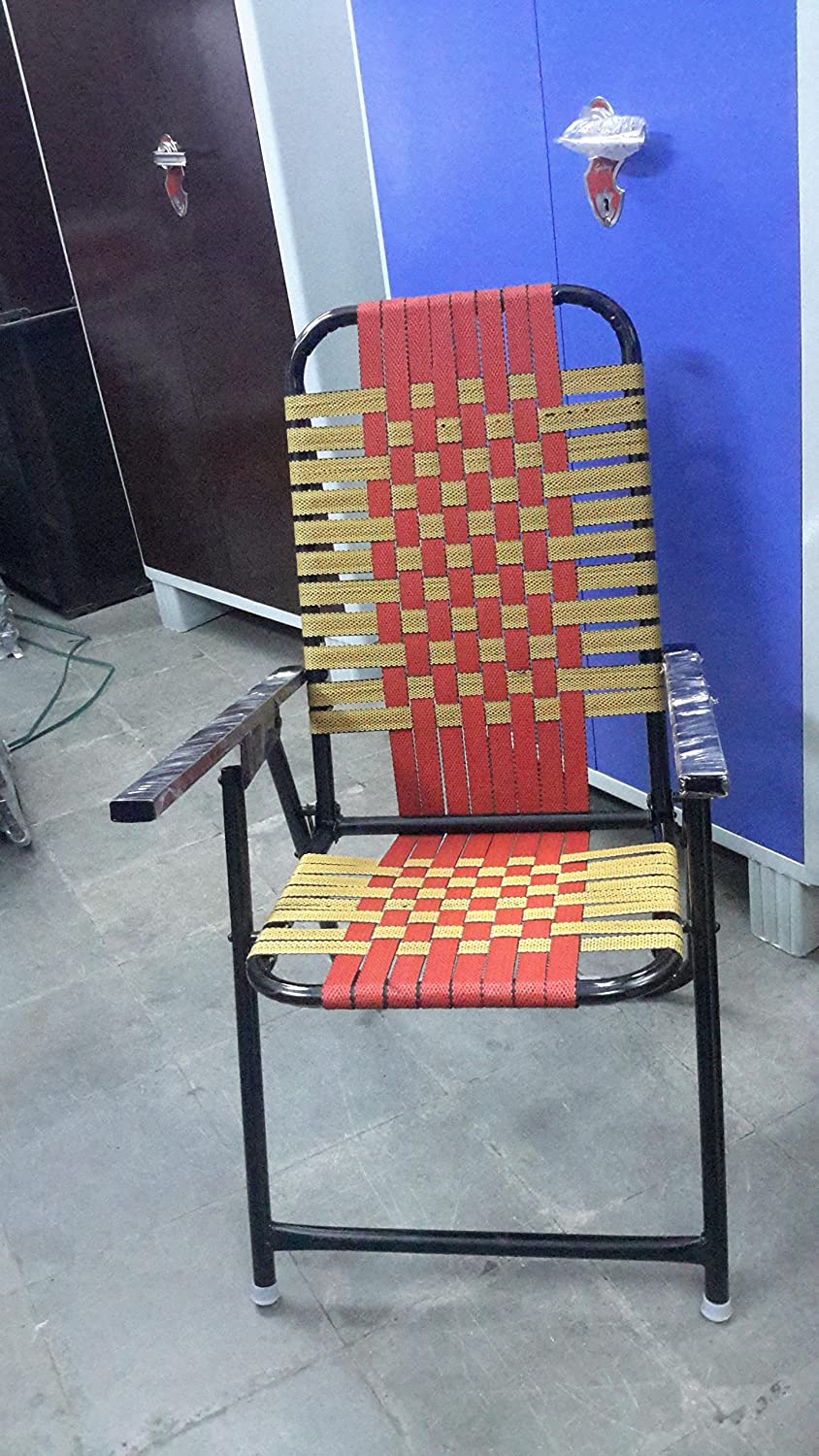 STUDY CHAIR Hallow Iron and Nawar Folding Study Chair (Yellow and
