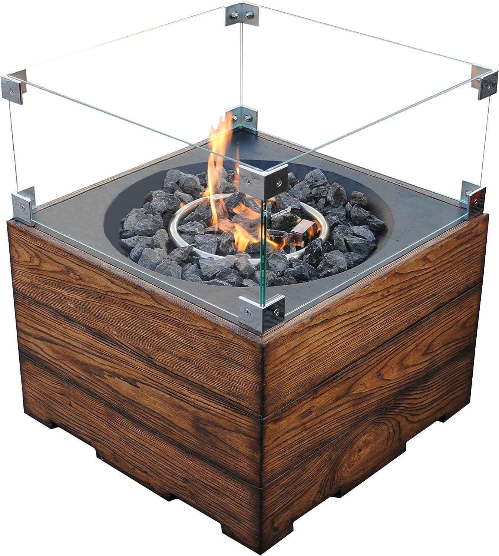 Clifton Cubierta de cristal para chimenea de gas, Brasero ...