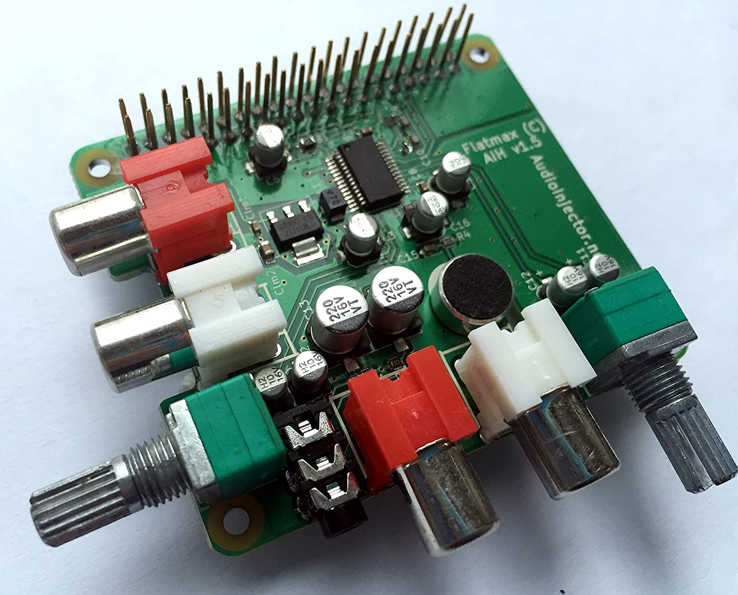 AudioInjector - 2ch / 8ch Audio I/O for Raspberry Pi