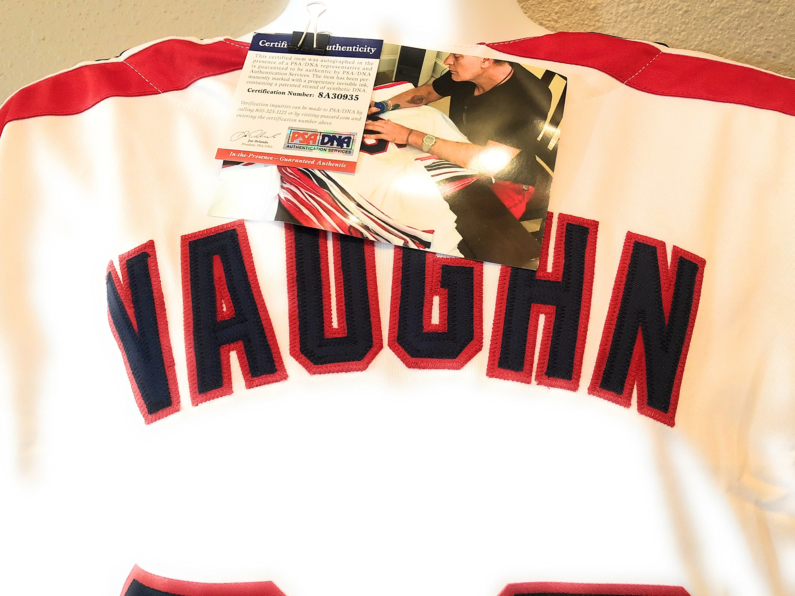 Charlee Sheen Ricky Vaughn Cleveland Indians Signed Autograph Major League The Movie Jersey PSA/DNA Witnessed Certified