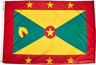 product image for Annin Flagmakers Model 192997 Grenada Flag Nylon SolarGuard NYL-Glo, 4x6 ft, 100% Made in USA to Official United Nations Design Specifications