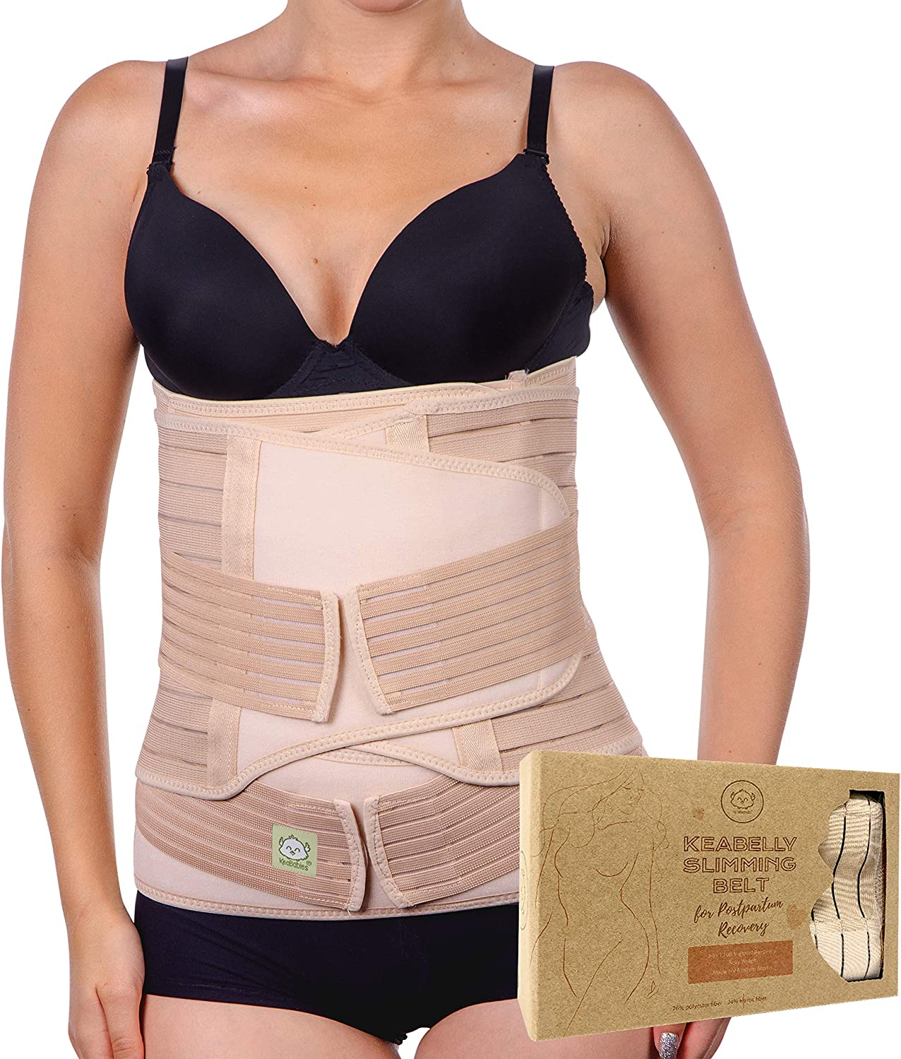 Post Partum Body Shaper C-Section Back Support Belly Wrap Maternity Belly Belt