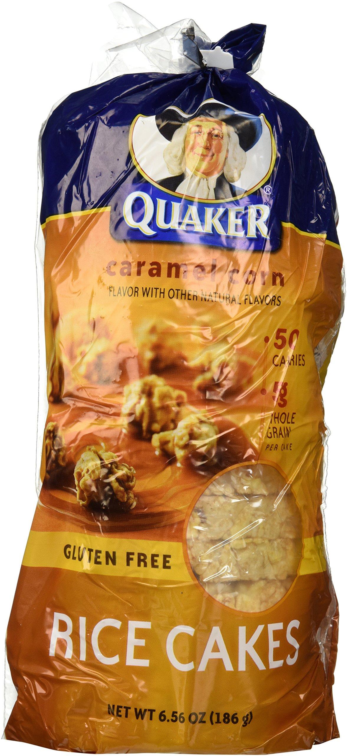 Quaker, Rice Cakes, Caramel, 6.5oz Bag (Pack of 4)