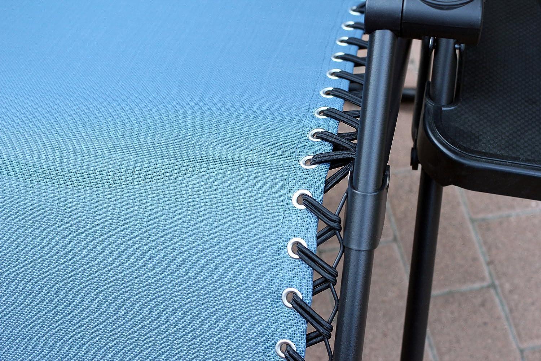 Jeco Navy Blue Oversized Zero Gravity Chair with Sunshade