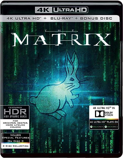 Amazon in: Buy The Matrix (4K UHD & HD + Bonus Disc) (3-Disc) DVD