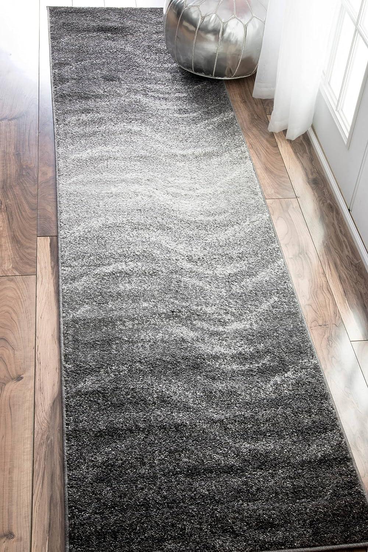nuLOOM Julene Contemporary Runner Rug Grey 2 5 x 9 5