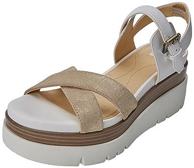 1b92c3ec882d1 Geox D Radwa C, Sandales Plateforme Femme  Amazon.fr  Chaussures et Sacs