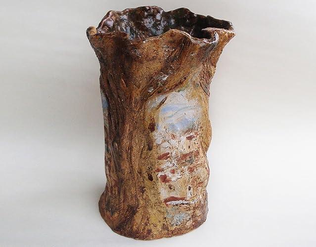 Amazon Ceramic Hand Built VaseFlorence View Painted