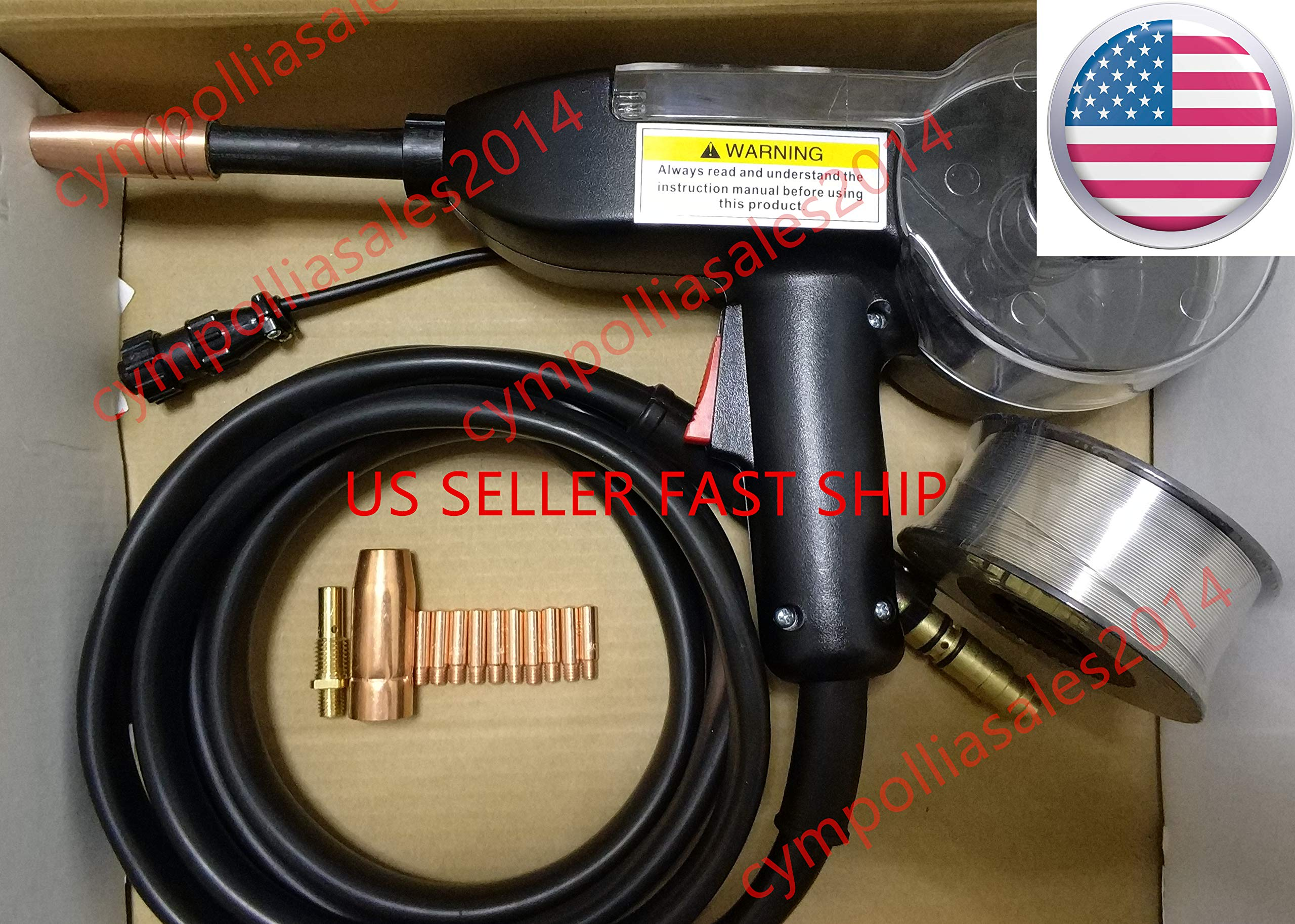 US SELLER 10' Spool gun replace Magnum PRO 100SG Spool Gun fit LINCOLN Easy-mig 140/180,Mig pak 140/180,Pro-mig 140/140T/180, Weld-pak 140HD/180HD(ETA: 2-8 working days) by CYMPOLLIA2016