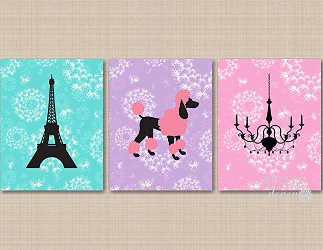 Amazoncom Paris Wall Art Paris Girl Room Decor Eiffel Tower