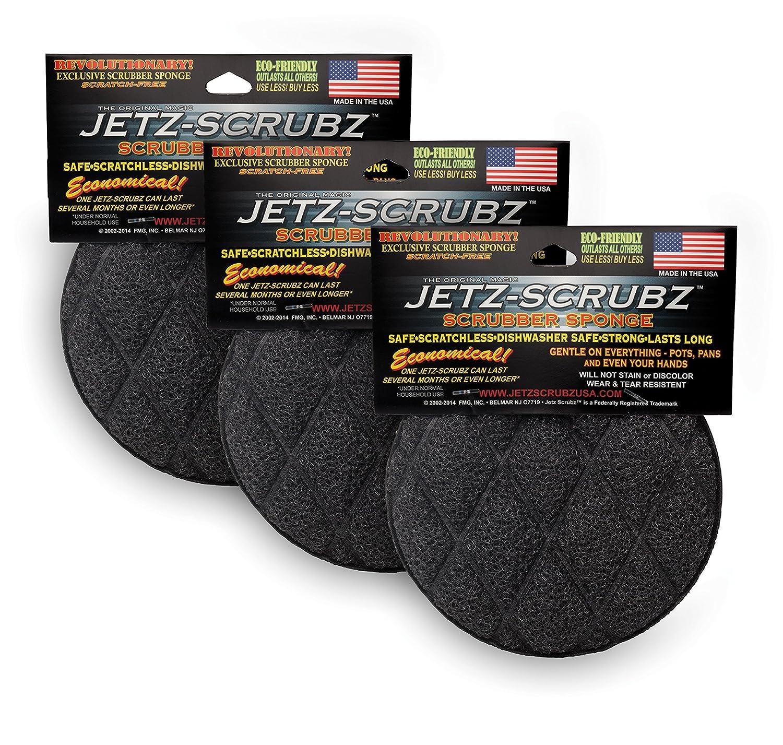 Jetz-Scrubz Scrubber Sponge, Round, Set of 3 J22/3
