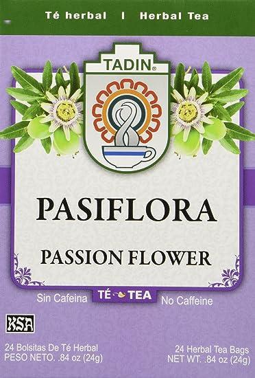 Tadin Tea Pasiflora Passion Flower Tea 24 Tea Bags Amazon Co Uk Grocery