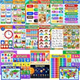 Educational Preschool Posters Learning Poster for Toddler Kid Kindergarten Classroom Learning Decoration, Large 16 x 11 Inch