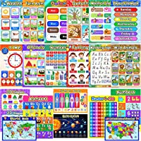 Educational Preschool Posters Learning Poster for Toddler Kid Kindergarten Classroom Learning Decoration, Large 16 x 11…