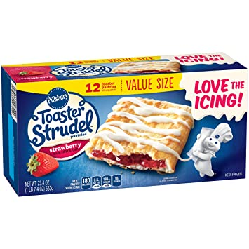 Pillsbury Toaster Strudel Strawberry Toaster Pastries 12 Count