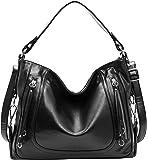 Kenoor Shoulder Bags Women Fashion Handbags PU Leather Top Handle Tote Satchel Bag