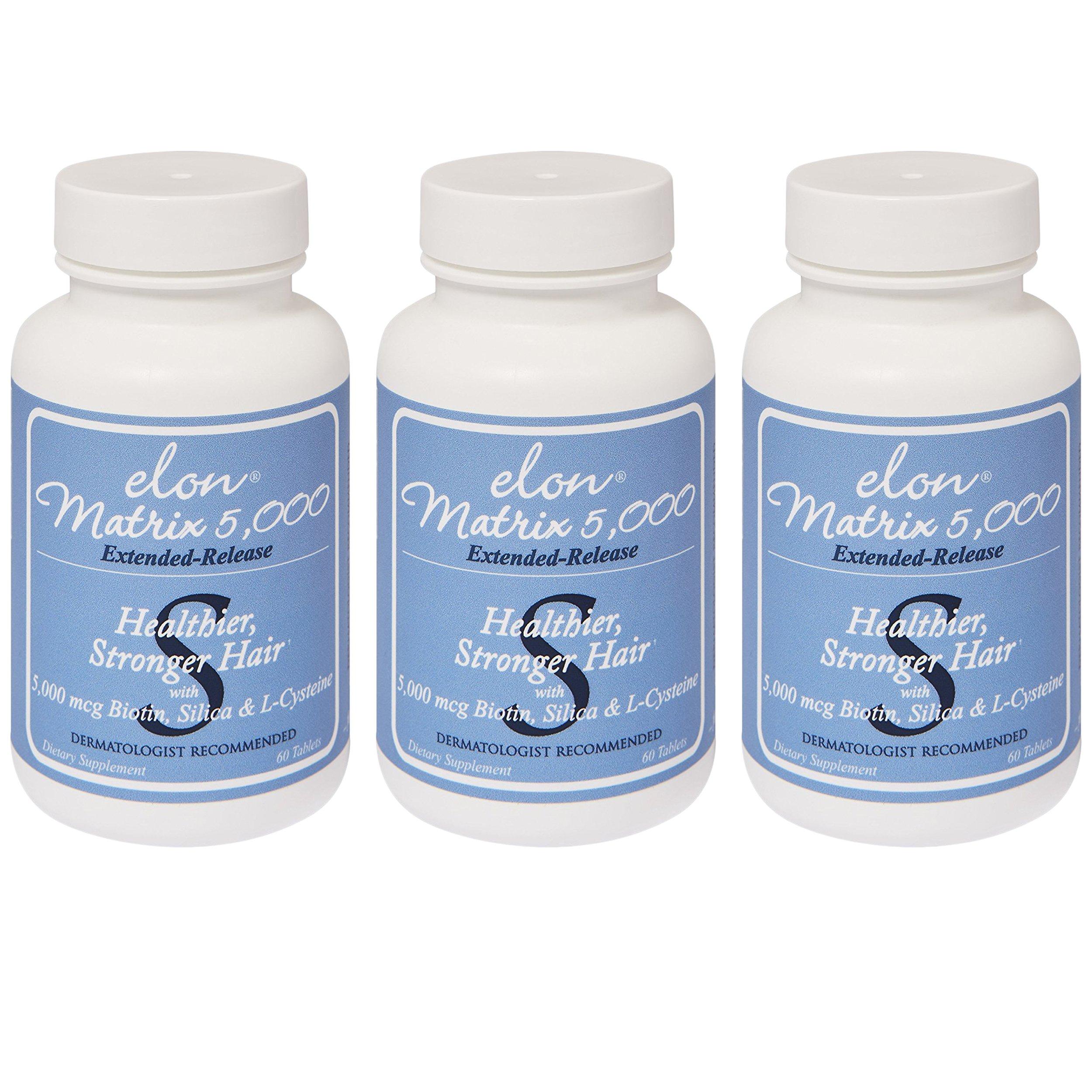 Elon Matrix 5,000 - Vitamin for Hair 60 capsules (3 Pack)