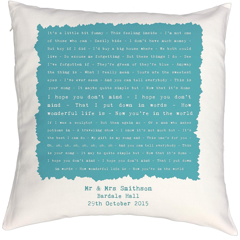 Ellie Goulding Elton John Personalised Song Lyrics Print Framed Your Song