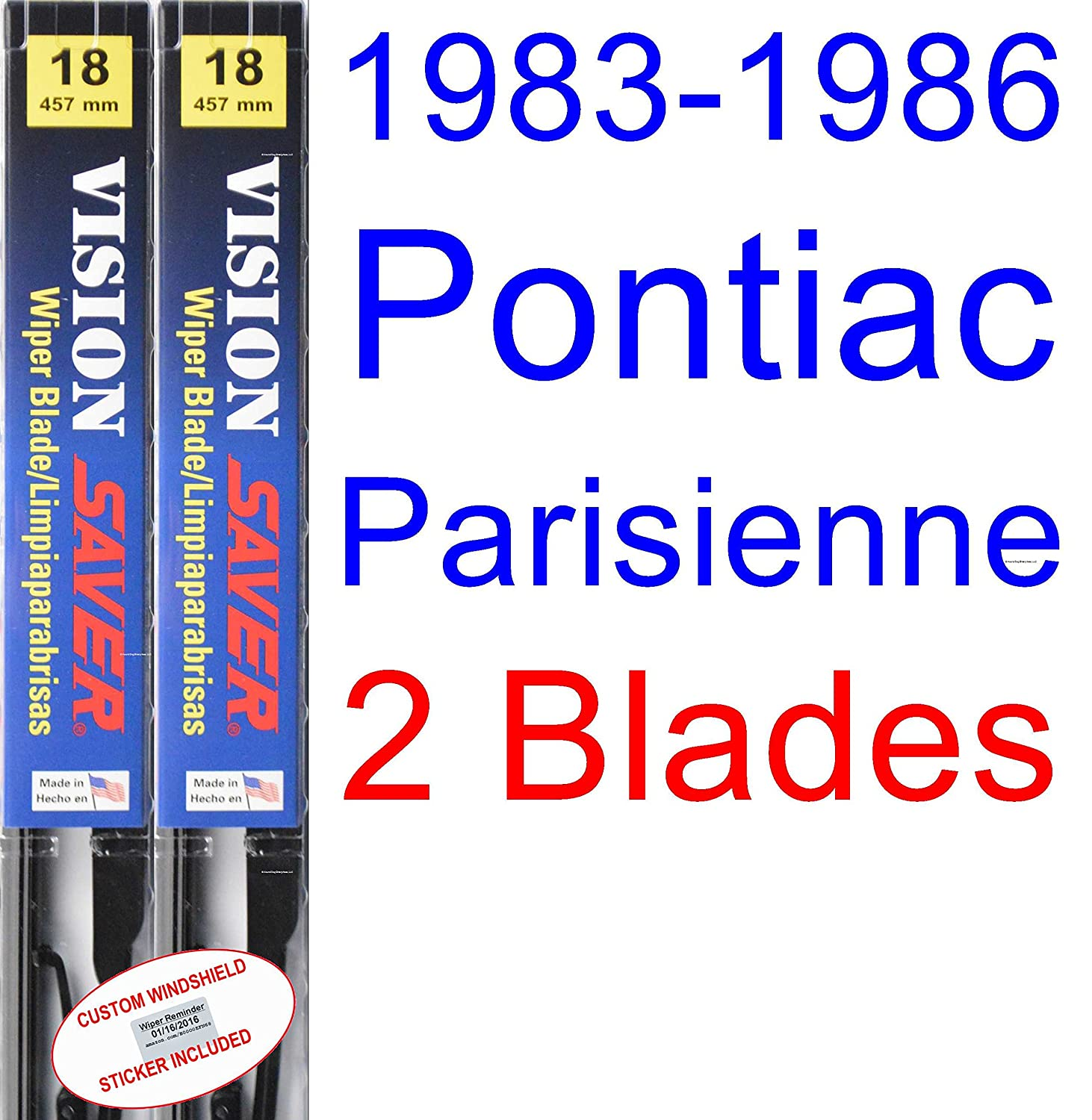 Amazon.com: 1983-1986 Pontiac Parisienne Wiper Blade (Driver) (Saver ...