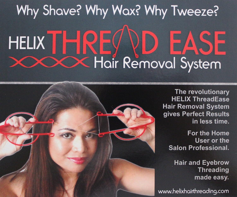 Helix Threadease Hair Eyebrow Threading System, Black Kit, Hair Removal
