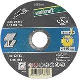 Wolfcraft 1683999 1683999-1 Disco de Cortar para Metal, Granel diam. 115 x 1,0 x 22,23 mm, plata