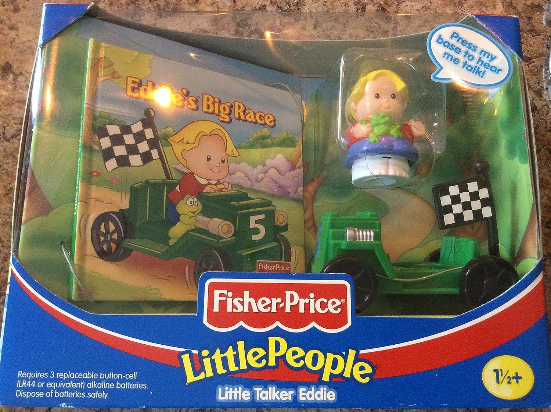 Little People Fisher Price Little Talker Eddie with Eddie's Big Race Book
