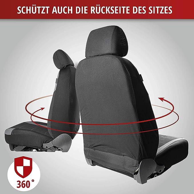 2 Vordersitzbez/üge schwarz 11787 Zip-IT Schonbez/üge Auto Walser Auto Sitzbezug Velvet mit Rei/ßverschluss