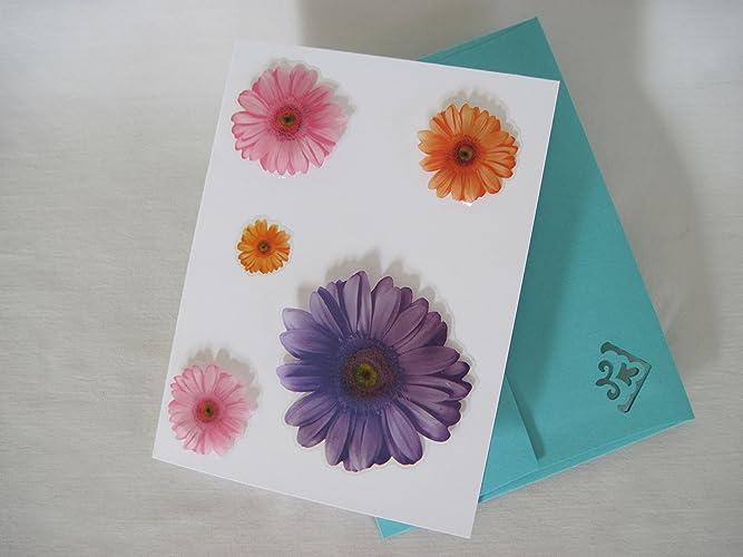 Amazon handmade creative decorative flower greeting card gift handmade creative decorative flower greeting card gift on white card stock custom art craft colorful m4hsunfo