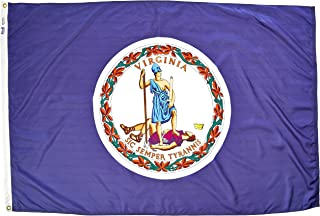 product image for Annin Flagmakers Model 145670 Virginia State Flag 4x6 ft. Nylon SolarGuard Nyl-Glo 100% Made in USA to Official State Design Specifications.
