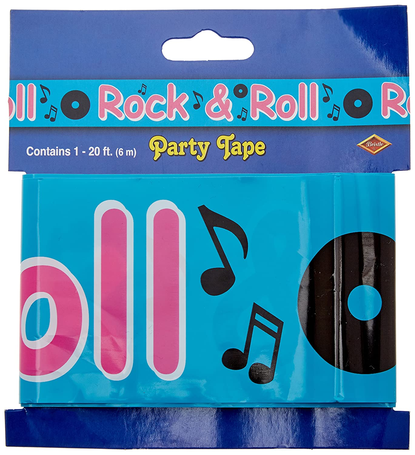 1 count Rock /& Roll Sign Banner Party Accessory 1//Pkg
